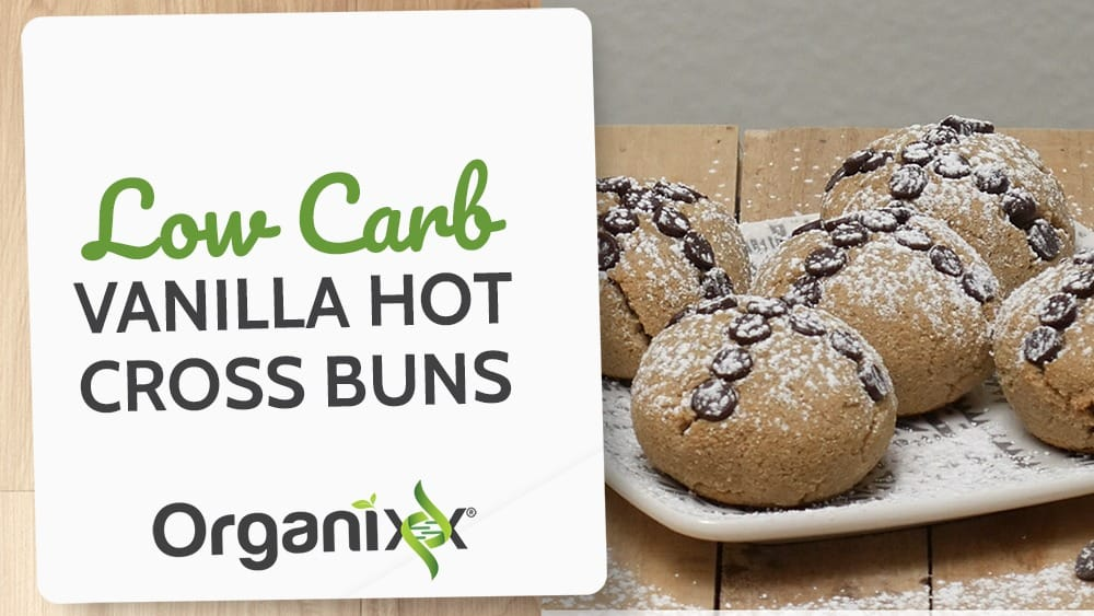 Low Carb Vanilla Hot Cross Buns