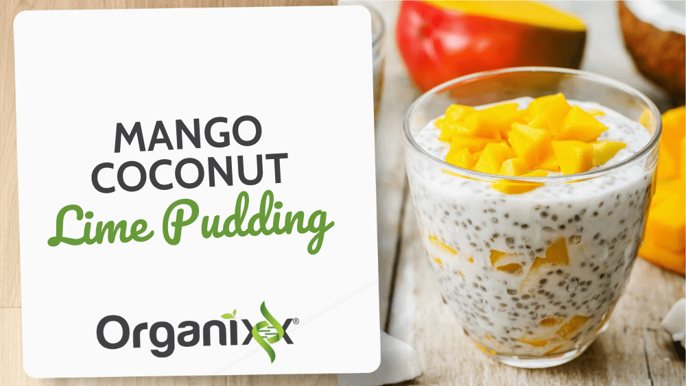 Coconut Mango Lime Pudding