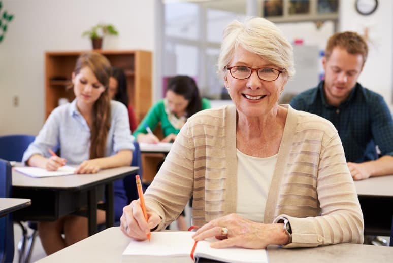 Woman Attends Class to Around Senior Moments