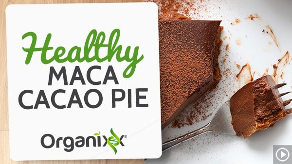 Healthy Maca Cacao Pie Recipe