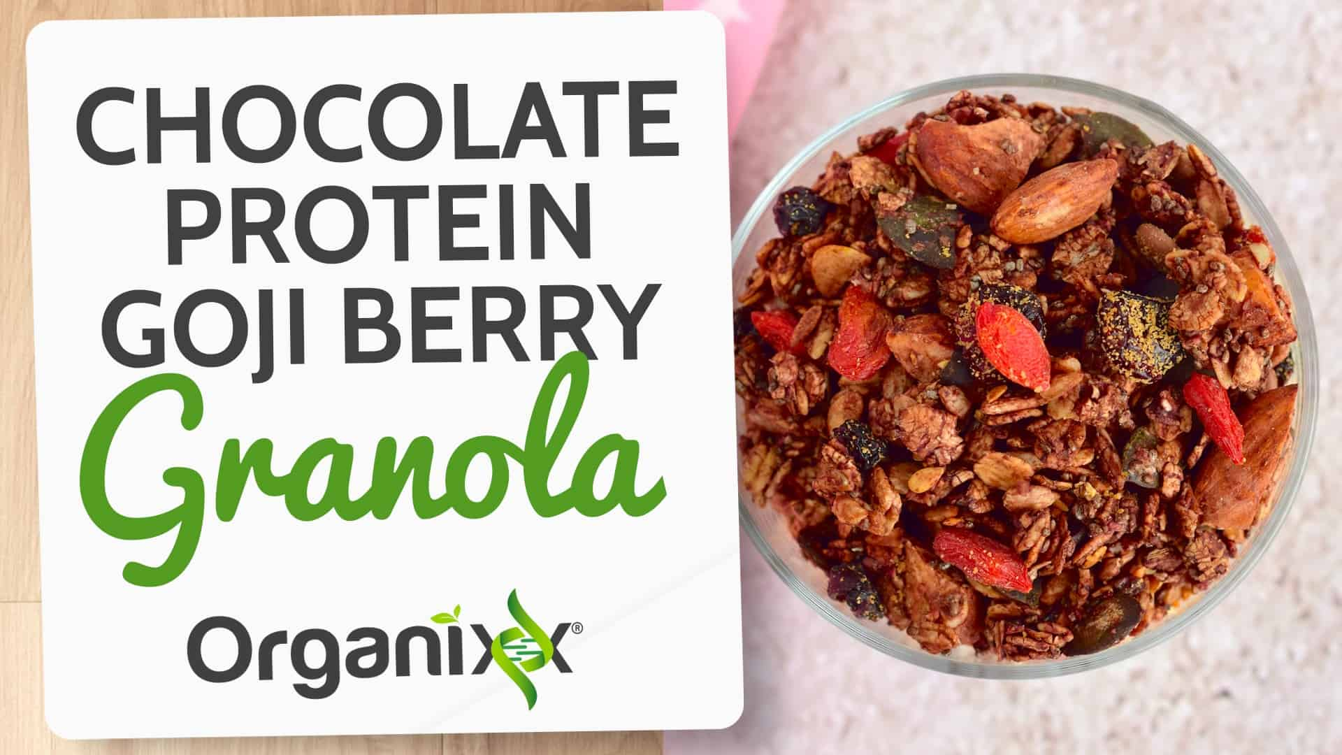 Chocolate Protein Goji Berry Granola